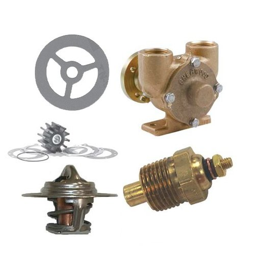 Crusader Gaskets, Waterpomp, Thermostaat, Impeller en Sensors