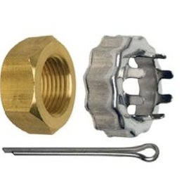 Volvo/Johnson/Evinrude/OMC Nut & Keeper (3850984, 398042, 5008966)