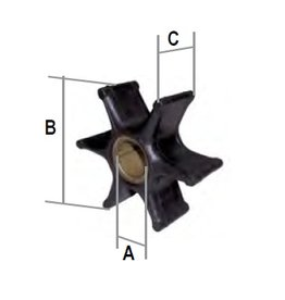 Mercury 2-3,3 pk / Tohatsu Impeller 2.5A/3.5A/3.5B 2T
