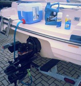 Inboard motor winterklaar maken flush kit inclusief, Fuel stabilizer en 10L koelvloeistof