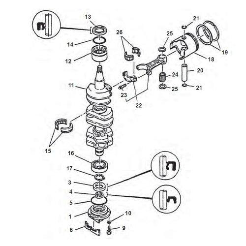 Yamaha 75 HP / 85 HP 2-stroke Crankshaft Parts