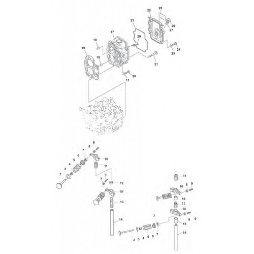 Yamaha / Mercury / Mariner F9.9 / F15 (99-07) Head Parts