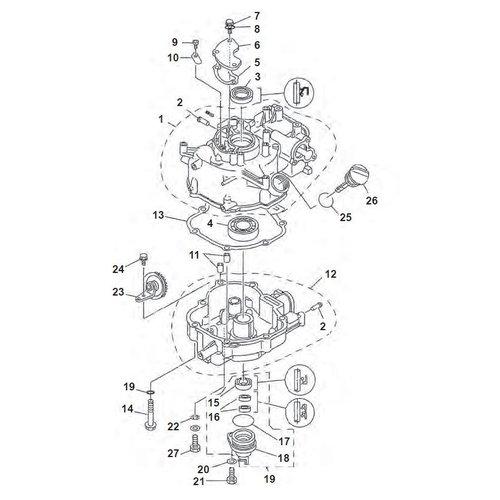 Yamaha F4 / F5 / F6 blok onderdelen (2)