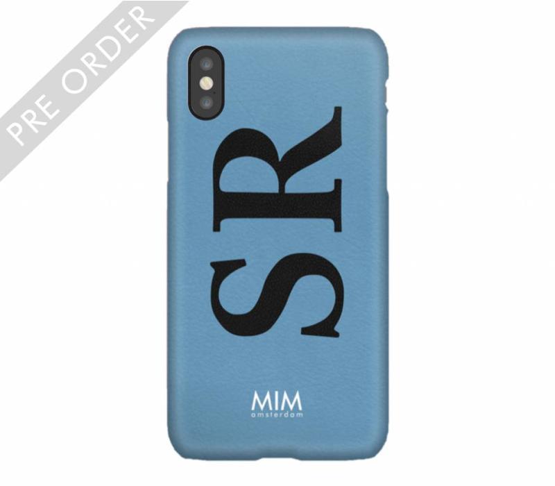 MIM INITIAL CASE (hard case) - blauw/zwart