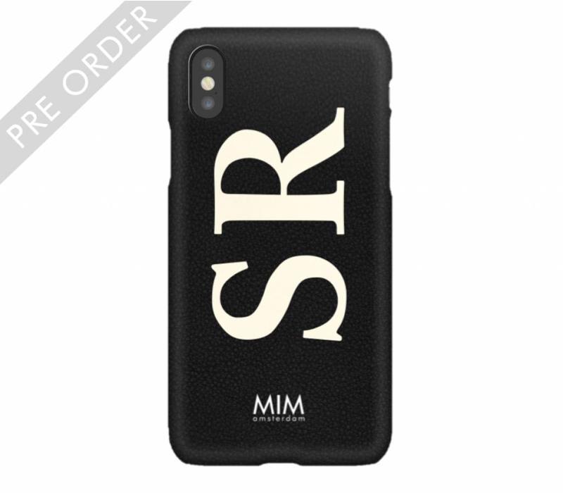 MIM INITIAL CASE (hard case) - zwart/creme