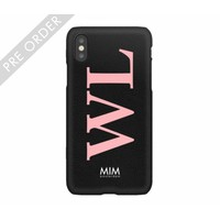 MIM INITIAL CASE (hard case) - zwart/roze