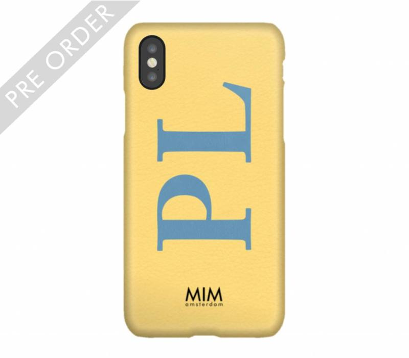 MIM INITIAL CASE (hard case) - geel/blauw