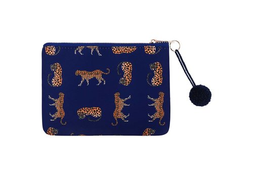 MIM BLUE CHEETAH MAKE-UP BAG