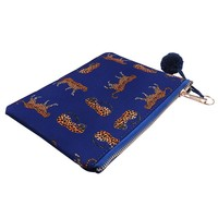 BLUE CHEETAH MAKE-UP BAG