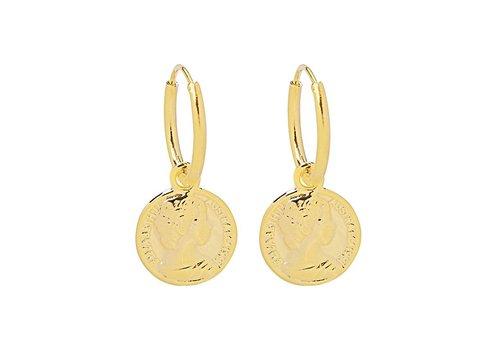 MIM GOLDEN COIN EARRINGS