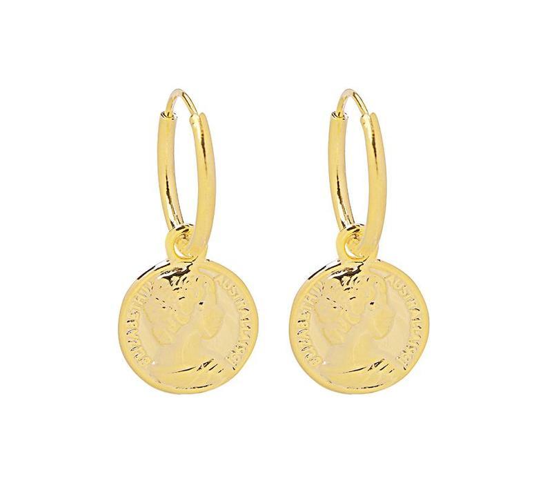 GOLDEN COIN EARRINGS