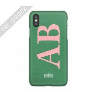 MIM INITIAL CASE (hard case) - groen/roze