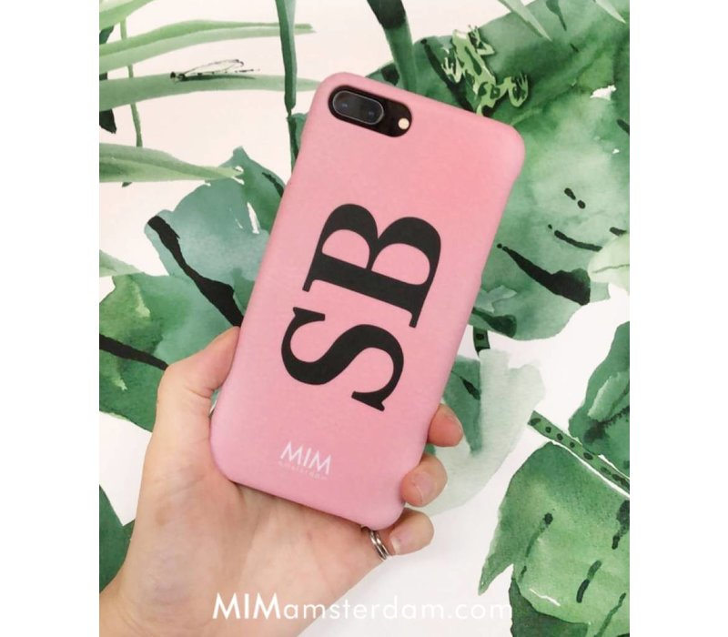 MIM INITIAL CASE (hard case) - roze/zwart