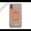 MIM INITIAL CASE (hard case) - taupe/oranje