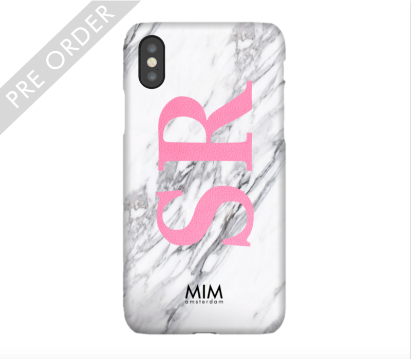 MIM INITIAL CASE (hard case) - marble/pink