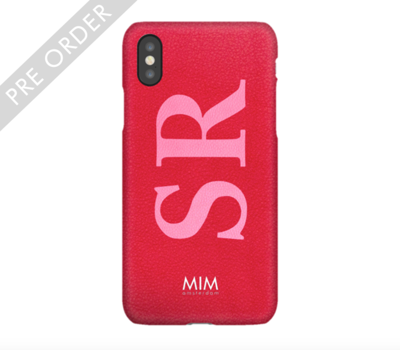 MIM INITIAL CASE (hard case) - red/pink