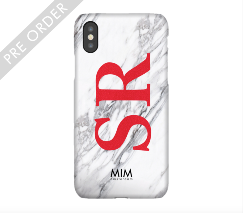 MIM INITIAL CASE (hard case) - marble/red