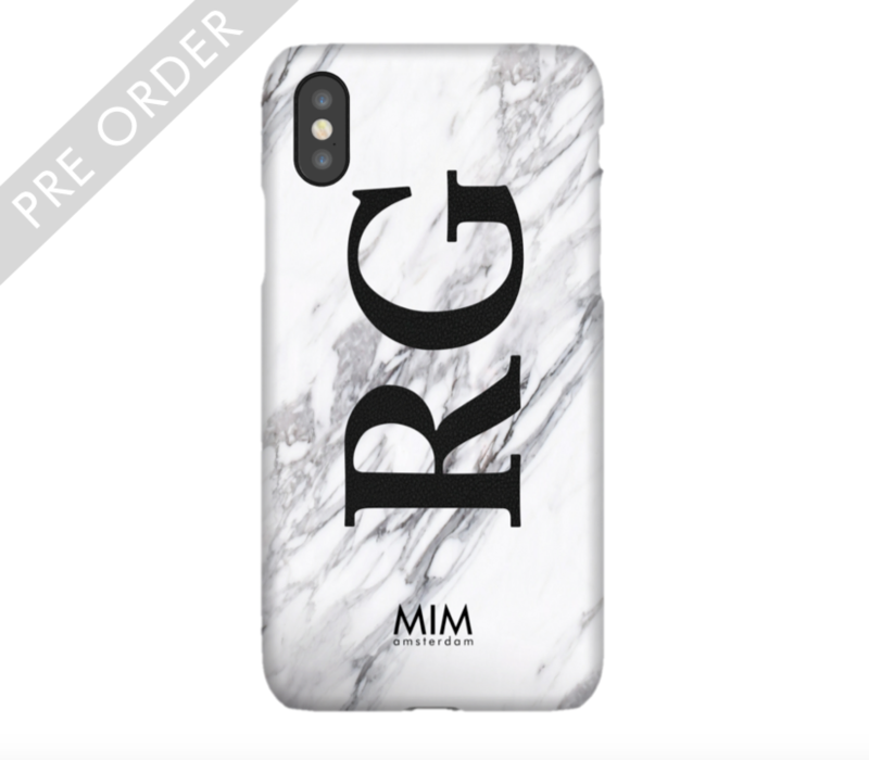 MIM INITIAL CASE (hard case) - marble/black