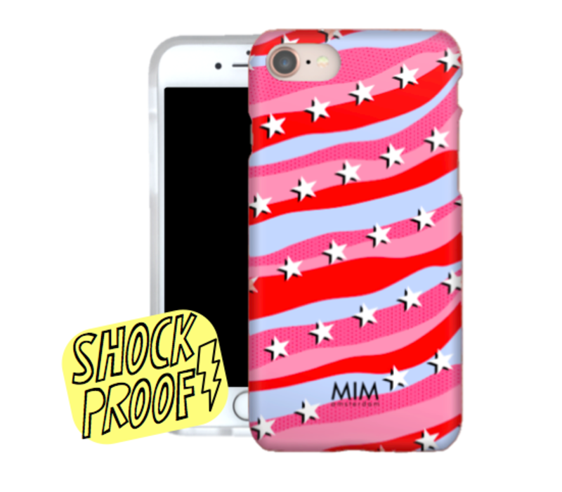 RAINBOW ROCKSTARS RED - MIM SOFTCASE (shockproof)