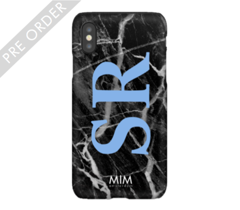 MIM INITIAL CASE (hard case) - marble/blue