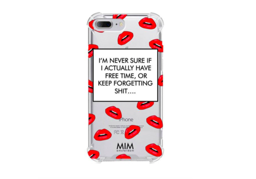 MIM FORGETTING SH*T - MIM TRANSPARANT SOFTCASE