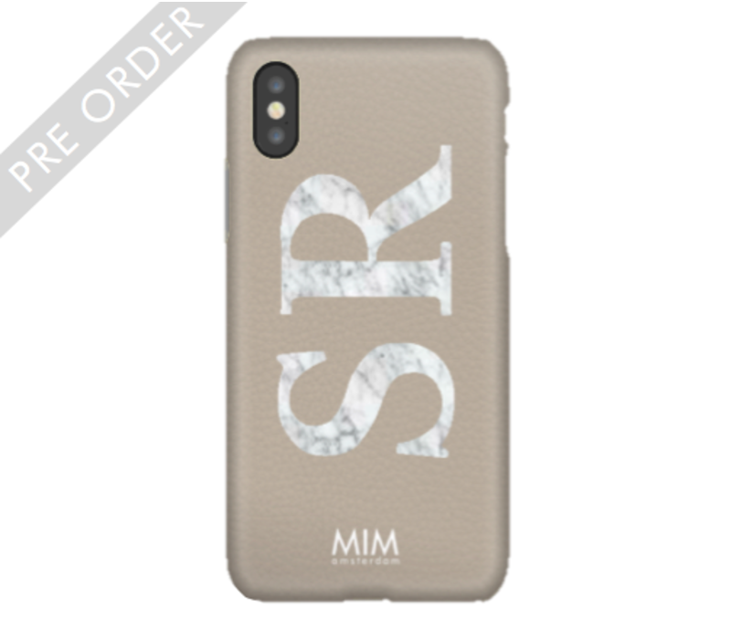 MIM INITIAL CASE (hard case) - grey/marble
