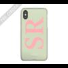MIM INITIAL CASE (hard case) - mint/pink