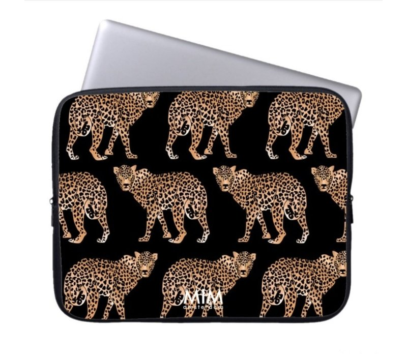 CHEEKY CHEETAH BLACK - MIM LAPTOP SLEEVE