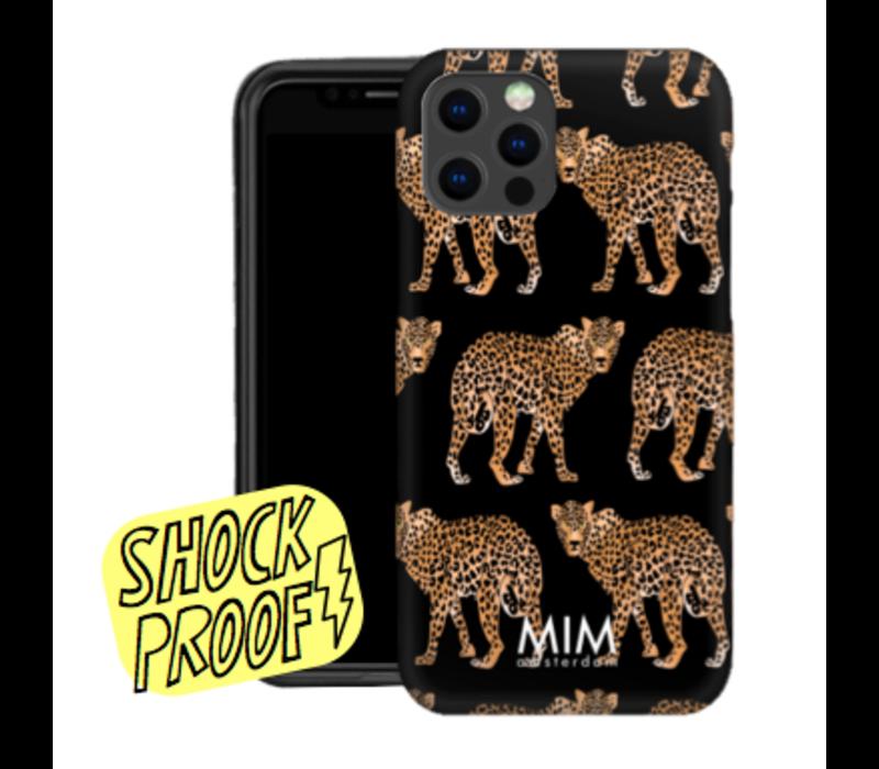 CHEEKY CHEETAH BLACK - MIM SOFTCASE (SHOCKPROOF)