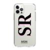 MIM INITIAL GEL CASE ( clear case) - zwart/roze