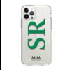 MIM INITIAL GEL CASE ( clear case) - groen/roze