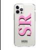 MIM INITIAL GEL CASE ( clear case) - roze/zwart