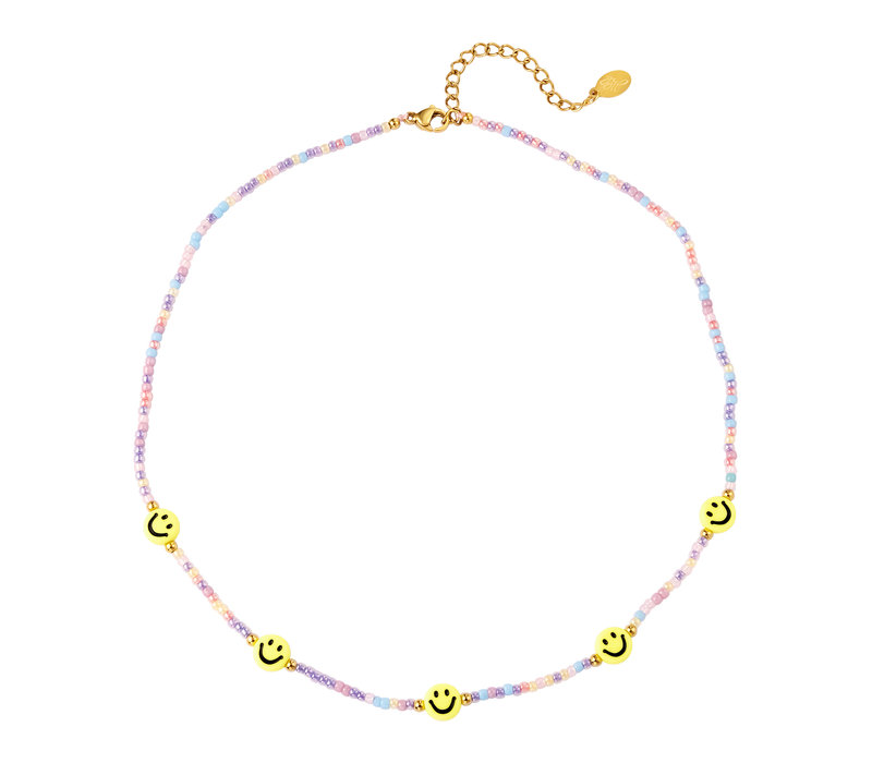 BEADED SMILEY NECKLACE