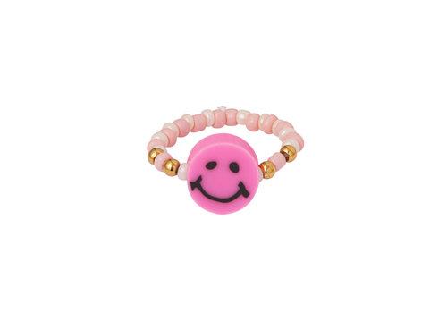 MIM BEADED SMILEY RING (meer kleuren)