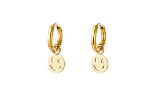 MIM GOLDEN SMILEYS EARRINGS