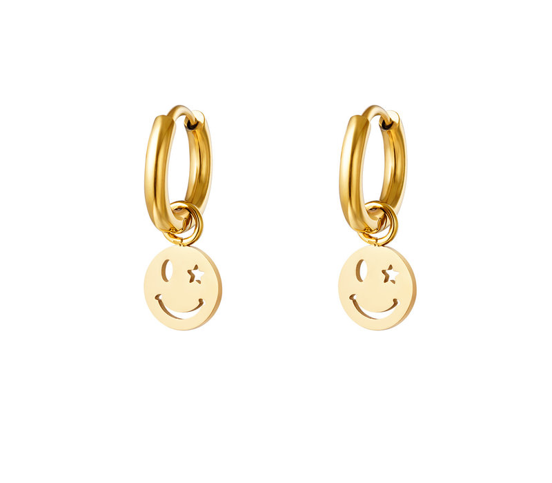 GOLDEN SMILEYS EARRINGS