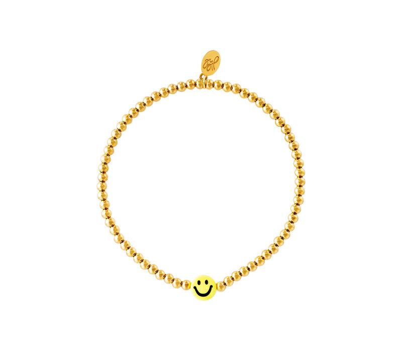 GOLDEN SMILEY BRACELET