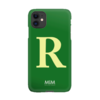 MIM LETTER CASE (hard case) - green/creme