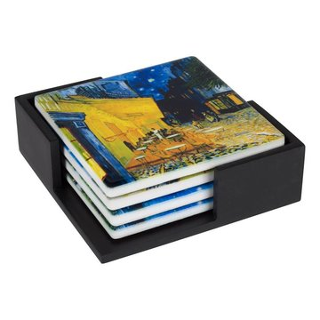 Ceramic Coasters Van Gogh Terrace of a café at night