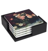 Ceramic Coasters Van Gogh Roses and peonies