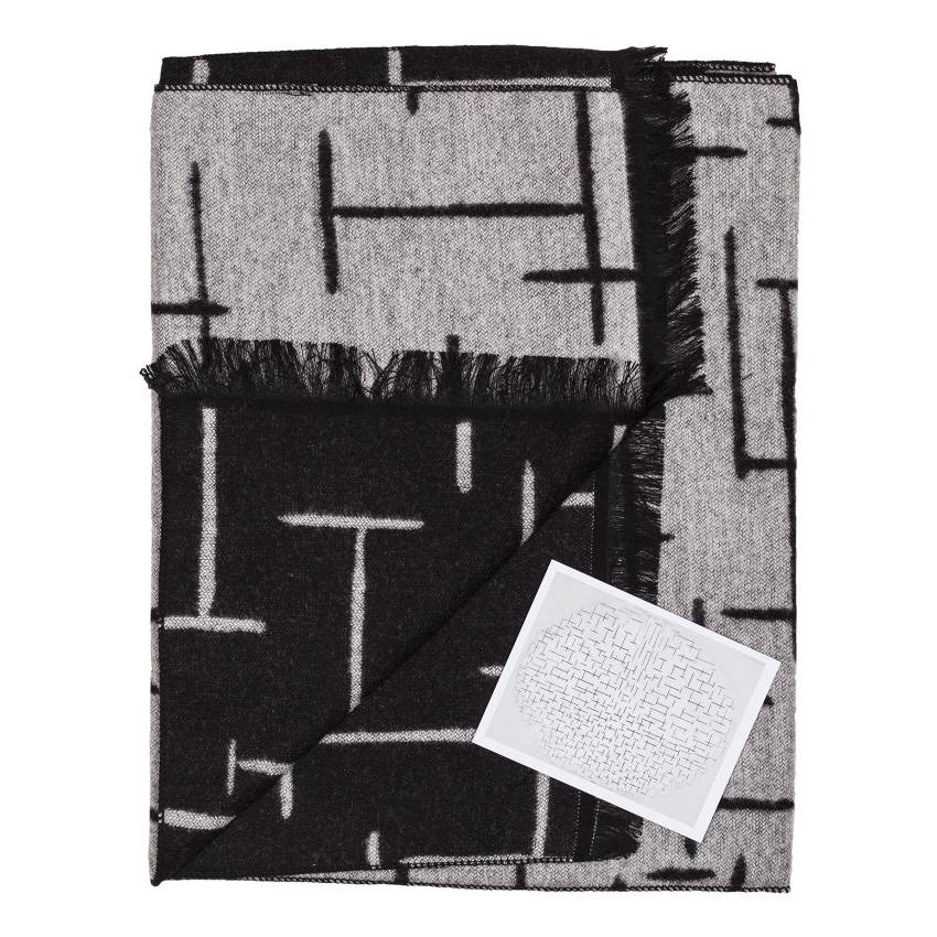 Scarf 'Composition 10 in black and white' - Piet Mondriaan