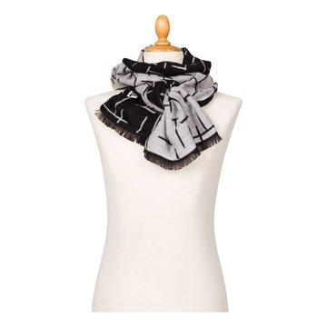 Sjaal 'Compositie 10 in zwart wit' - Piet Mondriaan