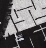 Scarf viscose Mondriaan black and white