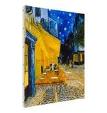 Reproductie canvas Van Gogh Caféterras bij nacht