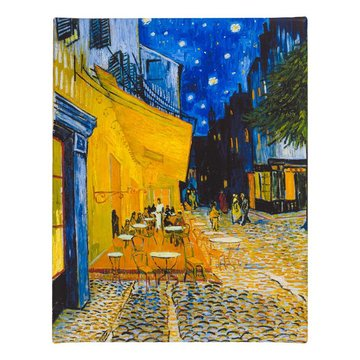 Reproduction canvas Van Gogh Terrace of a café at night