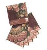 Napkins Van Gogh Roses and peonies