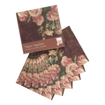 Napkins Van Gogh Roses and peonies
