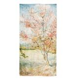 Scarf silk Van Gogh Pink peach trees
