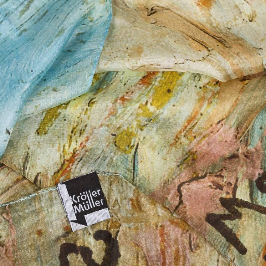 Sjaal zijde Van Gogh Roze perzikbomen