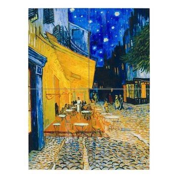 Set of tiles Van Gogh Terrace of a café at night (four-part)
